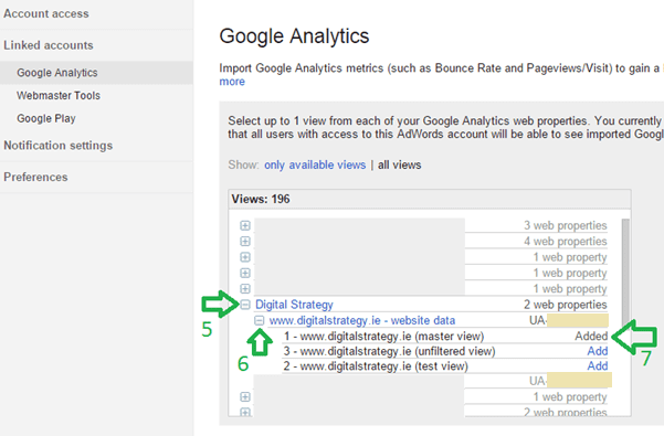 How to Link Google AdWords, Analytics and Webmaster Tools