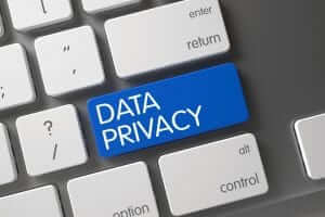 Data privacy replaces enter on a keyboard